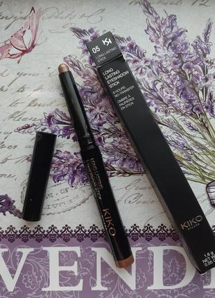 Long lasting stick eyeshadow стойкие тени-карандаш kiko milano #05