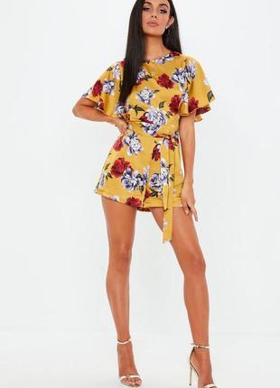 👑♥️final sale 2019 ♥️👑    стильный атласный ромпер в цветы