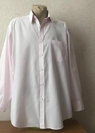 M&s- классическая,бледно розовая рубашка в идеале,