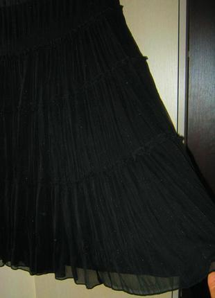 Юбка миди черный шифон на подкладке состояние новой