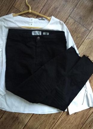 Чёрные джинсы скинни new look hallie disco