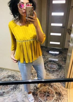 Красива блуза льолька розмір м 100% віскоза ціна 159 грн