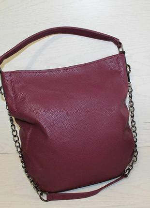 Новая вместительная женская сумка бордо