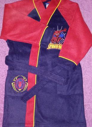 Стильный домашний халат spider men 3-4г. спайдер мен человек паук