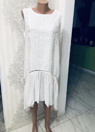 Платье италия льняное лён стильное модное