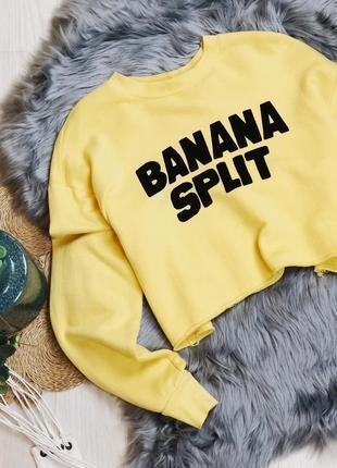 Zara s m размер укороченный свитшот худи желтый с надписью свободный крой