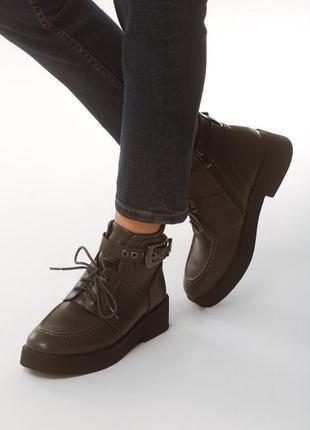 Новые женские серые демисезонные ботинки