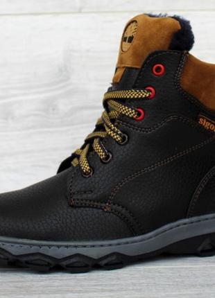 Зимние подростковые ботинки полусапожки