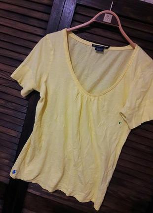 Легкая желтая футболка #ralph lauren #оригинал