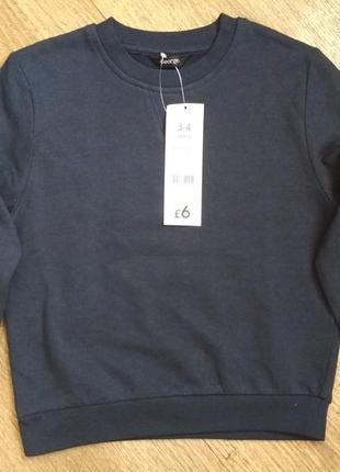 Новый теплый свитер, свитшот c начесом от george на мальчика 3-4 года, рост 98-104 см