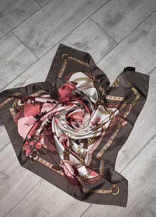 Новый шелковый платок gucci оригинал