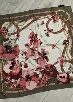 Новый шелковый платок gucci оригинал2 фото