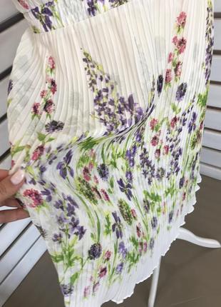 Шифоновое нежное платье плиссе с цветочным принтом оригинал из сша распродажа!2 фото