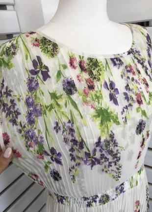 Шифоновое нежное платье плиссе с цветочным принтом оригинал из сша распродажа!4 фото