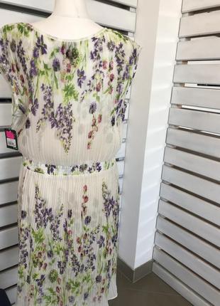 Шифоновое нежное платье плиссе с цветочным принтом оригинал из сша распродажа!3 фото