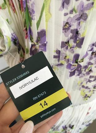 Шифоновое нежное платье плиссе с цветочным принтом оригинал из сша распродажа!5 фото