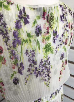 Шифоновое нежное платье плиссе с цветочным принтом оригинал из сша распродажа!7 фото