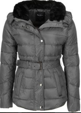 Женская зимняя куртка vip пуховик куртка pepe jeans