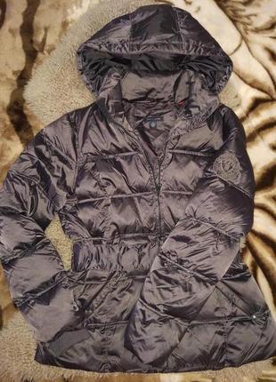 Брендовая зимняя куртка пуховик tommy hilfiger,