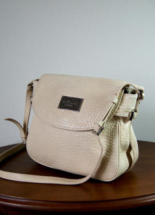 Intrend by max mara. италия. брендовая кожаная сумка.