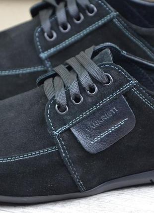 Мужские кожаные мокасины van kristi 210 ч/з