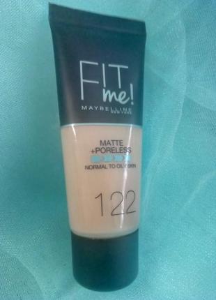 Maybelline fit me matte poreless foundation тональный крем