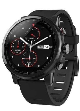 Смарт-часы xiaomi amazfit stratos 2 black + накладки + ремешок + плёнки