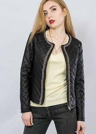 Sale куртка косуха кожаная черная atelier 61