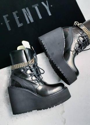 Puma by rihanna fenty оригинал кожаные ботинки на платформе