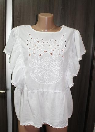 Хлопковая блузка primark в идеальном состоянии 3xl