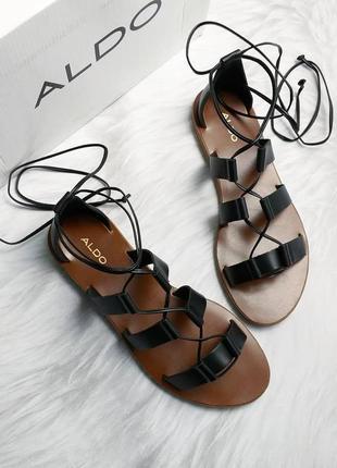 Aldo оригинал кожаные сандалии гладиаторы р39 на шнуровке