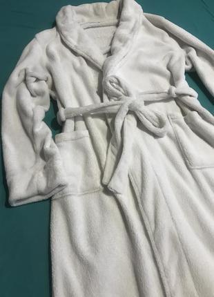 Плюшевый мягкий белый халат германия  размер хл/ххл