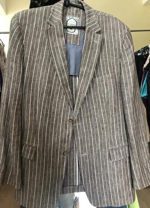 Шикарный пиджак лён от mario barutti