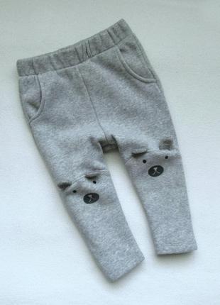 Стильные фирменные штаны zara boy с начесом 1,5-2г р.92см