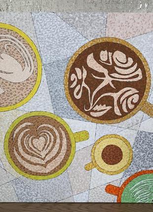 Картина чашки кофе чай матча какао латте арт акрилом @don.bacon