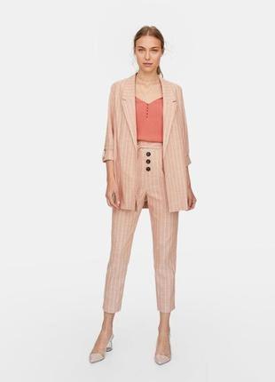 Шикарный брендовый костюм пиджак и укорочённые брюки