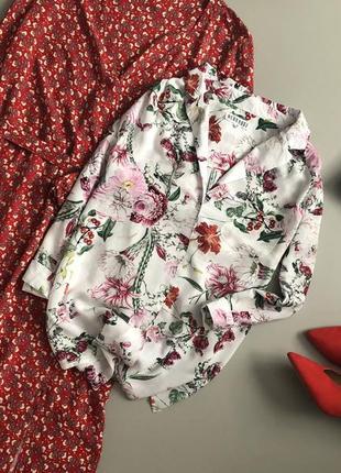 Милая цветочная рубашка / блуза neon rose