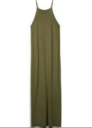 Довге плаття хакі р.м topshop