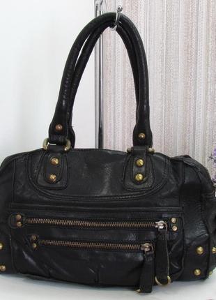 Классная сумка next, британия, натуральная кожа.