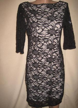 Кружевное платье e-vie р-р14