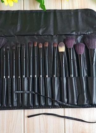 Фирменный набор кистей для макияжа 24 штук с чехлом