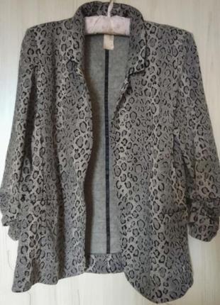 Кардиган пиджак блейзер принт леопард