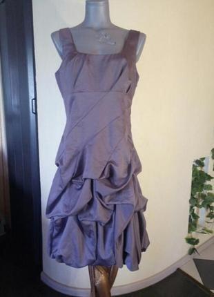 Финальная распродажа!красивое,переливающееся платье с обьемной юбкой