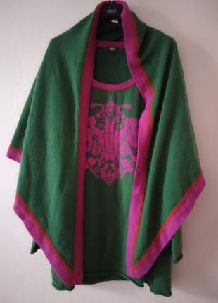 Gossl кашемировая кофта туника с большым платком накидкой. fabiana filippi