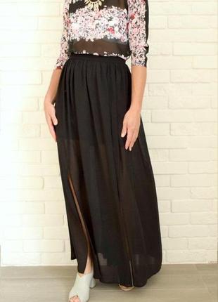 Очень красивая макси юбка из шифона на подкладке next uk16 состояние идеальное.