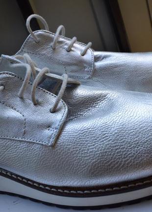 Кожаные туфли лоферы мокасины полуботинки