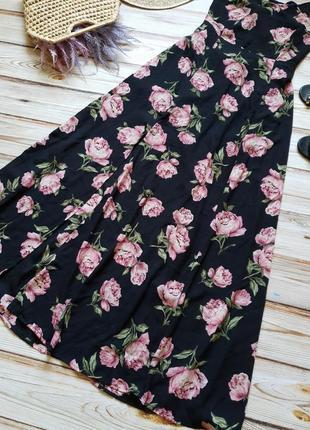 Розкошное шифоновое цветочное платье с пионами7 фото