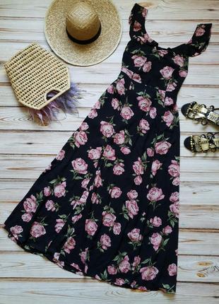 Розкошное шифоновое цветочное платье с пионами8 фото