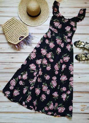 Розкошное шифоновое цветочное платье с пионами9 фото