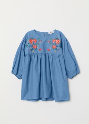 Стильне платья з вишивкою h&m